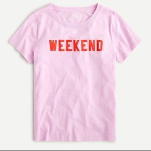 J. Crew Weekend pink T-shirt graphic tee